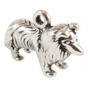 Collie Dog 3D Large Sterling Silver Charms